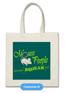 """""""Mouse People"""" mouse Bag, Green Text"""