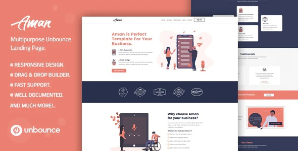 Multipurpose Unbounce Template with Page Builder
