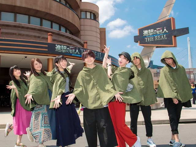 Cast Attack on Titan Habiskan Hari di Universal Studios Jepang