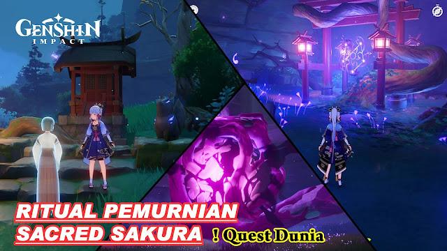 Quest Pemurnian Sacred Sakura Genshin Impact
