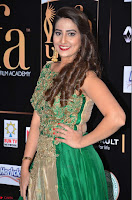 Manjusha in Beautiful Sleeveless Green Anarkali dress at IIFA Utsavam Awards 30.JPG