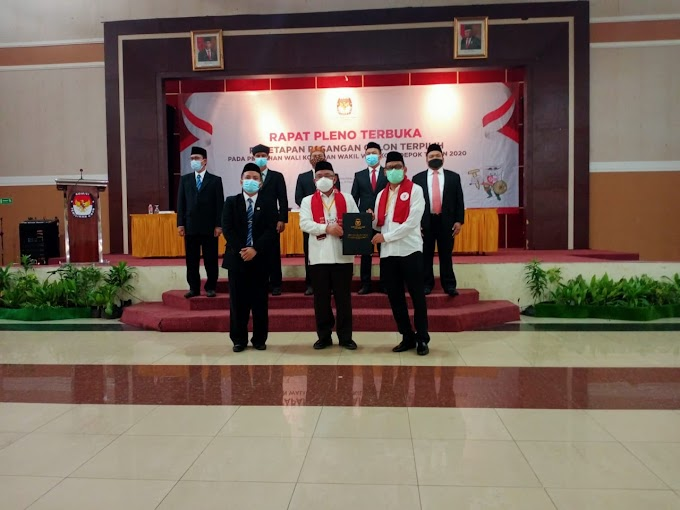 KPU Tetapkan Idris-Imam Sebagai Walikota Dan Wakil Walikota Depok 2021-2026