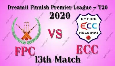 Who will win FPC vs ECC 13th T20I Match