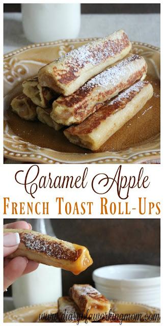 Caramel Apple French Toast Roll-Ups, Apple Recipes