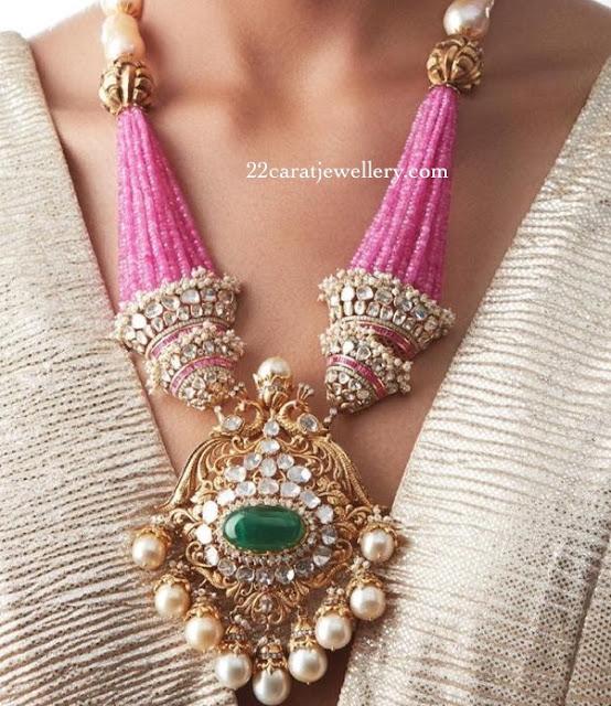 Flat Diamond Beads Set by Khanna Jewellery