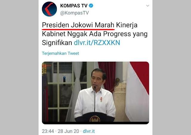 Presiden Jokowi Marah Kinerja Kabinet Nggak Ada Progress yang Signifikan