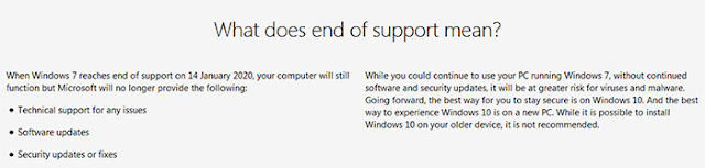 End of Windows 7 Support means: eAskme