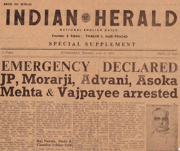 Story of Emergency in India
