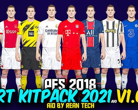 PES 2018 RT Kitpack Season 2020/2021 AIO