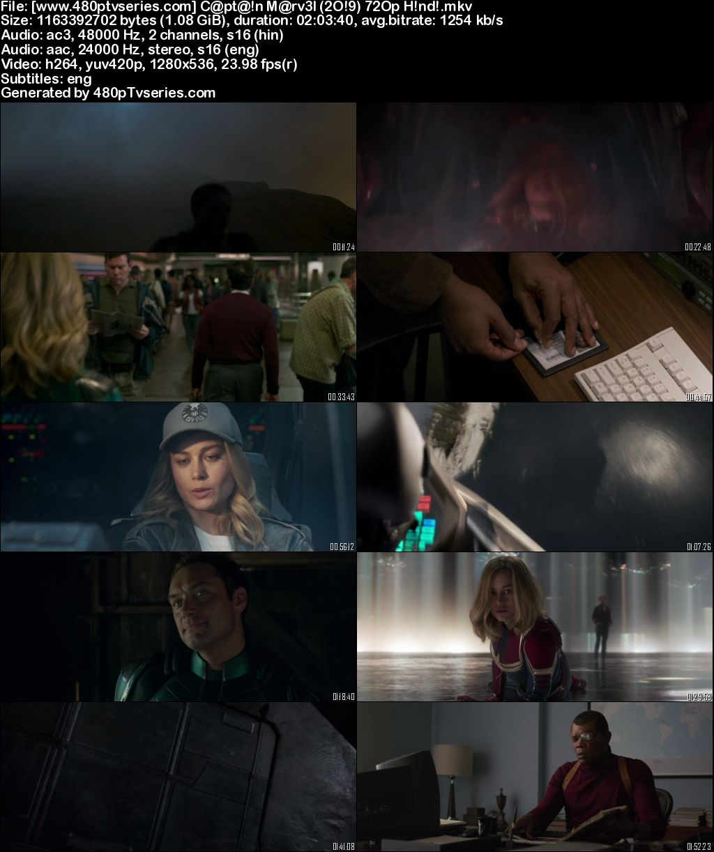 Watch Online Free Captain Marvel (2019) Full Hindi Dual Audio Movie Download 480p 720p Web-DL
