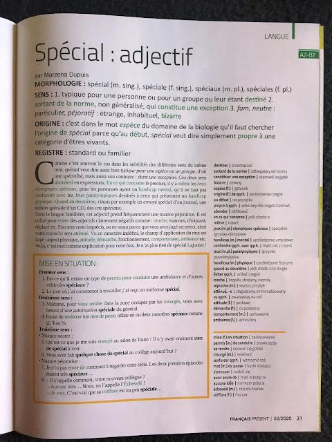 """""""Français Présent 52/2020"""" - przykładowy artykuł - Francuski przy kawie"""