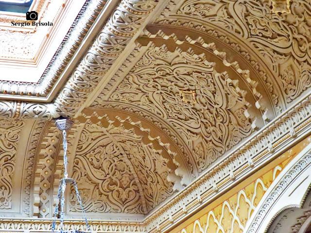 Palacete Rosa - Detalhes do centro do átrio