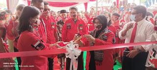 Ketua Rumah Komunikasi Lintas Agama, Hj. Rohimah Fachrori Resmikan kantor Ormas PBB.