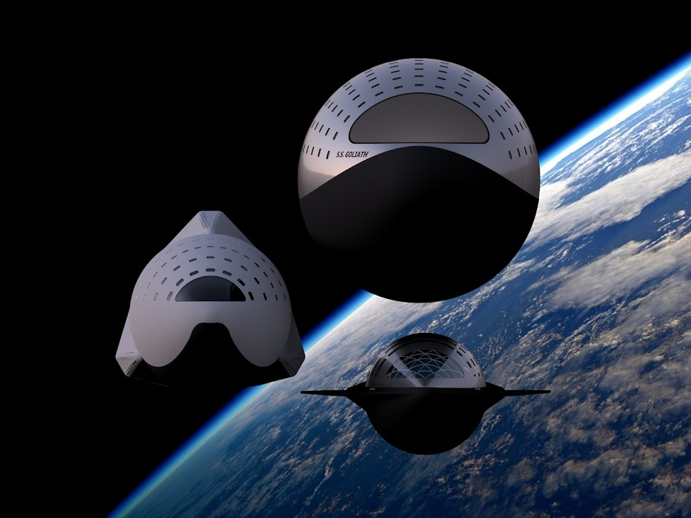 SpaceX 18m Starship vs 12m Starship (ITS) vs 9m Starship (top view) by Dale Rutherford
