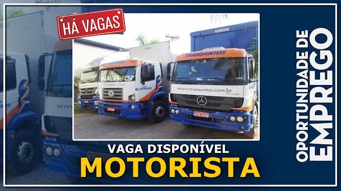 Transantos abre vagas para Motorista Truck