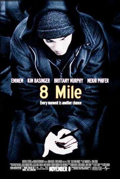 Poster Of 8 Mile 2002 720p English BRRip Full Movie Download