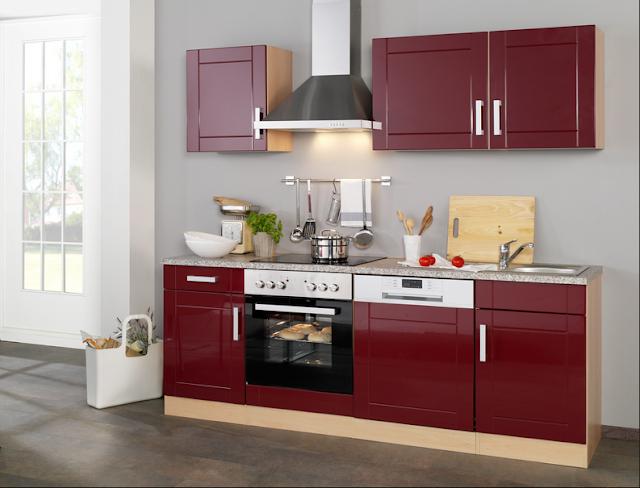 Küchenzeile 220 Cm Mit Elektrogeräten