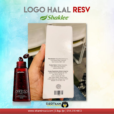 resv, ramuan resv, sumber resv, bahan resv, halal resv, logo halal shaklee, halal shaklee, kotak resv