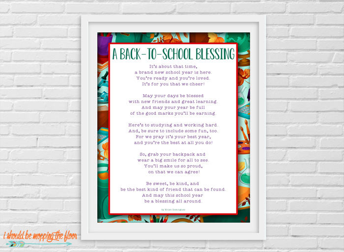Back to School Blessing Printables