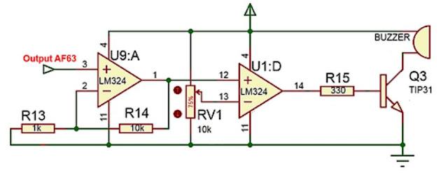 Implementasi sensor Gas AF63 dengan sistem kendali analog