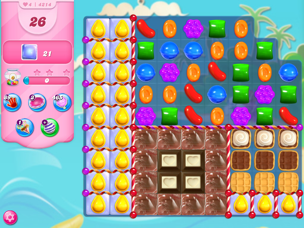 Candy Crush Saga level 4214