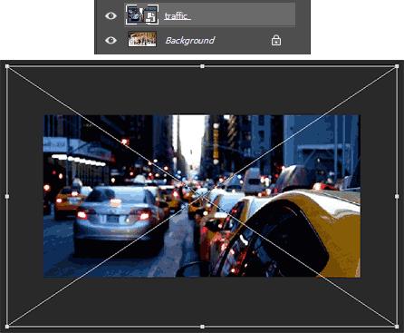 Merubah ukuran foto yang dijadikan sebagai pantulan kaca