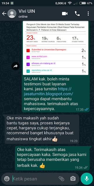 Hasil Turnitin Mahasiswa dari Makassar