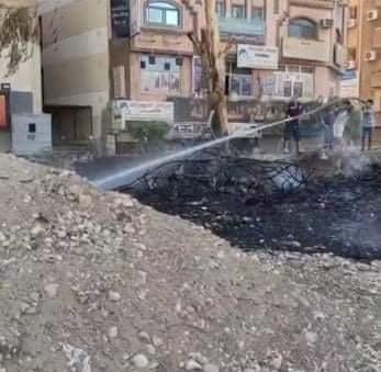 عاجل : السيطره على حريق فى مخلفات بجوار محطه قطارات جرجا .. صور