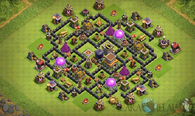 Base Hybrid TH 8 Clash Of Clans Terbaru Tipe 3