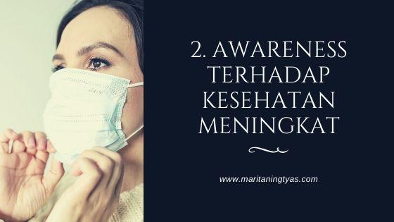 awareness terhadap kesehatan meningkat after covid 19