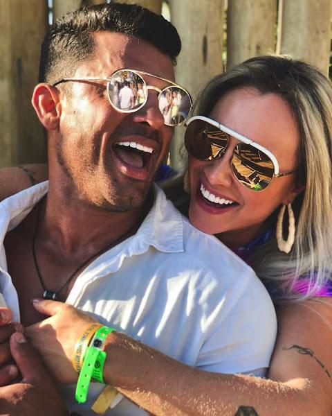 Juju Salimeni e Helisson Dias curtem o primeiro dia dos namorados do casal. Foto: Arquivo pessoal