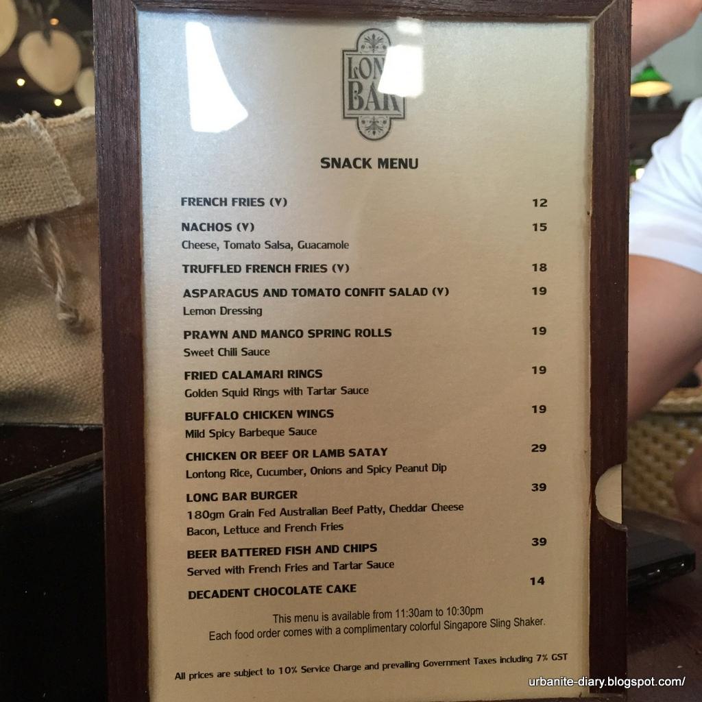 Singapore 115 Singapore Sling Long Bar In Raffles Hotel Sassy Urbanite S Diary