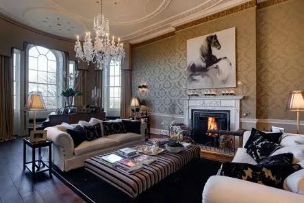 interior english style, living room interior