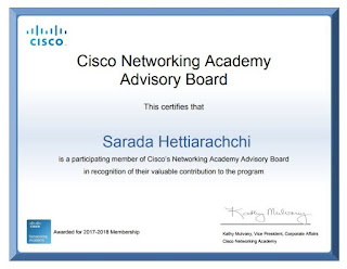 Cisco Networking Academy Advisory Board Member - 2017