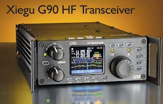 Ham Radio-Xiegu G90 HF Amateur Radio Transceiver 20W SSB/CW/AM/FM SDR Structure with Built-in Auto Antenna Tuner.