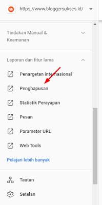 Cara Mengapus Artikel yang sudah di index google