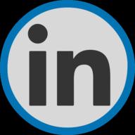 linkedin button outline