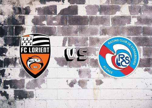 Lorient vs Strasbourg  Resumen