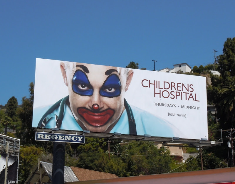 Pogo the Clown Childrens Hospital billboard