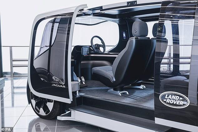 Jaguar Land Rover reveals the autonomous electric shuttle concept that can be configured into a shared car