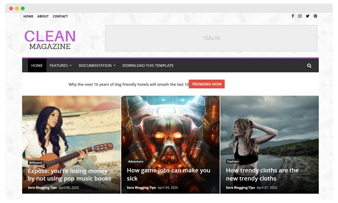 CleanMagazine - Clean responsive Blogger Template 2020