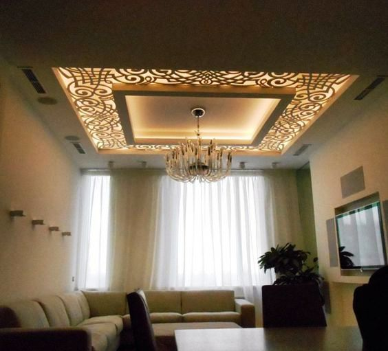 Luxury 42 CNC False Ceiling Design With LED 2018 Care Decor