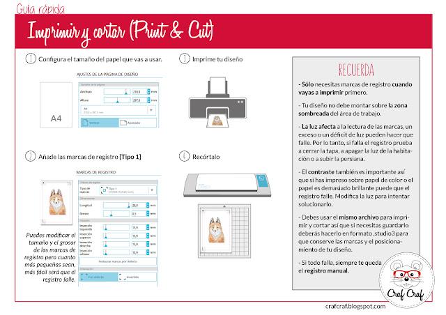guia rapida print&cut Silhouette Studio