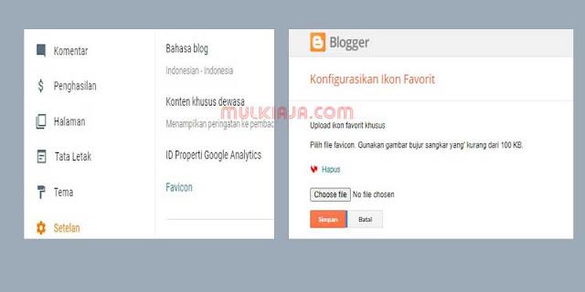 Cara Mengganti Favicon di Blogger Versi Baru