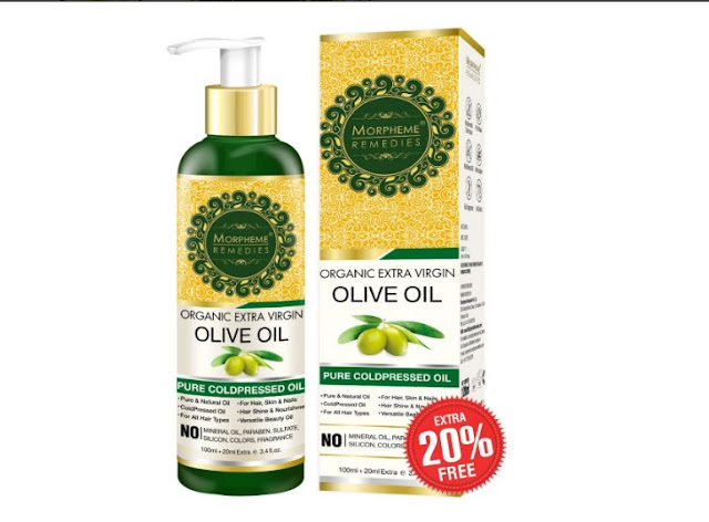 Organic Extra Virgin Olive Oil Pure ColdPressed Oil for Hair & Skin - 120ml