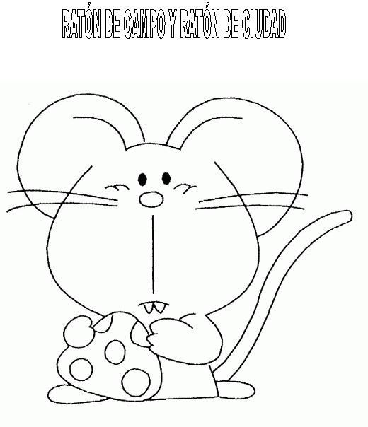 Ratones de campo y ratones de ciudad para colorear - Imagui