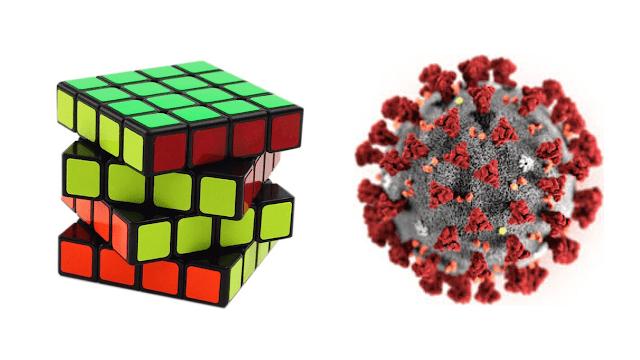 rubik's cube kubus dan coronavirus covid-19