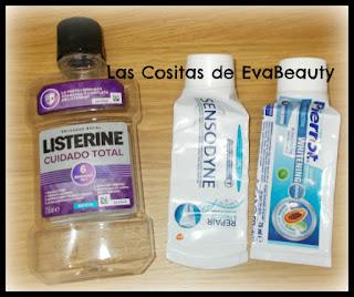 Enjuague bucal Listerine y pastas de dientes Sensodyne y Pierrot terminadas #productosterminados #empties #terminados
