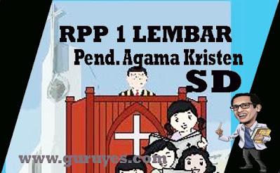 rpp PAK kelas 6 SD