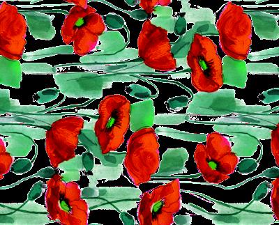 flower textile repeat 7054